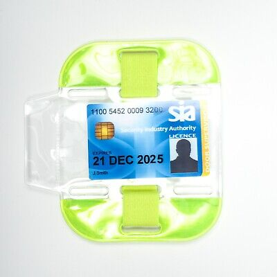 High Visibility SIA Security Arm Band ID Holder - YELLOW • 2.29£