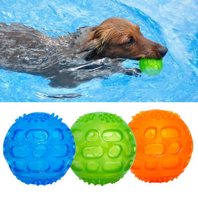 Rubber Pet Dog Chew Toy Ball Floating Aggressive Indestructible Squeaky Play Toy • 3.99£