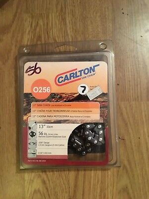 Genuine Carlton Chainsaw Chain O256 - 56 Links 13 , 3/16 , 0.58 Guage Brand New  • 26£