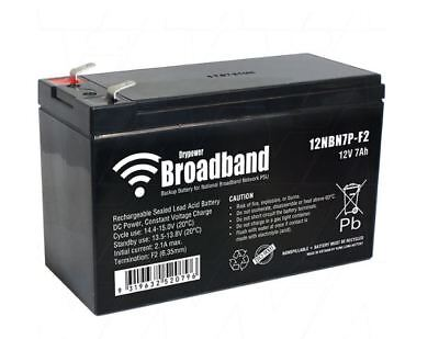 AU34.99 • Buy Drypower BROADBAND 12V 7Ah Sealed Lead Acid (SLA) Battery For NBN