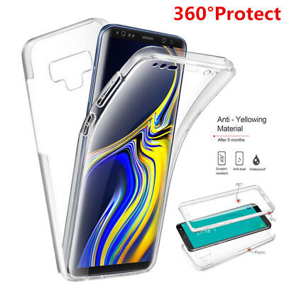 AU4.76 • Buy For Samsung S10 S9 Plus S7 Note 9 J7 360° Protect Full Cover Front+PC Back Case