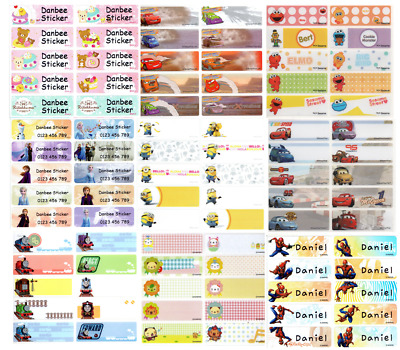 AU3.99 • Buy Large (Size:47x15mm) Character Personalised Name Labels, Stickers, Waterproof