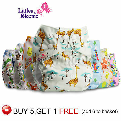 View Details Baby Cloth Nappy Reusable Washable STANDARD Popper Adjustable Wrap Pocket Diaper • 6.19£