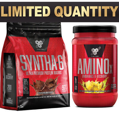 AU128.90 • Buy Bsn Syntha 6 4.54kg 10lbs Bsn Amino X 30 Serves Bcaa Muscle Recovery