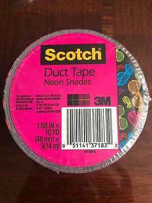 $5.95 • Buy 3M Scotch Duct Tape - Fancy Designs (Neon Shades) Sunglasses 80s Themed Crafting