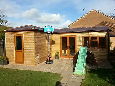 Timber Summerhouse/ Guest Lodges/ Hot Tub Enclosures/ Man Caves/Glamping Pods • 400£
