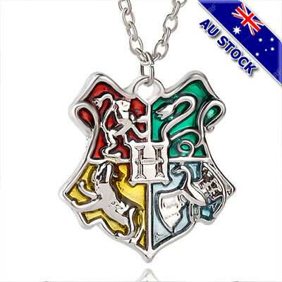 AU9.87 • Buy 925 Silver Plated Harry Potter Hogwarts Badge Pendant Silver Chain Necklace Gift