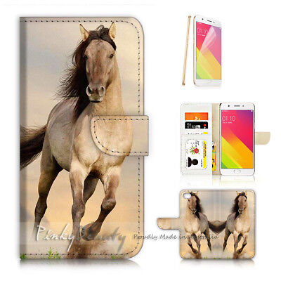 AU12.99 • Buy ( For Oppo A57 ) Wallet Case Cover P21646 White Horse