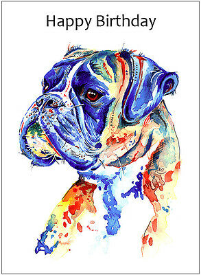 Boxer Dog Birthday Cards -  Gifts - CUSTOM TEXT Available • 4.49£
