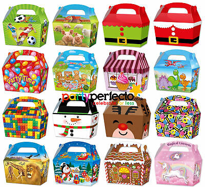 10 Party Bag Treat Boxes - Choose From 16 Designs - Cupcake Gift Themed Children • 2.69£