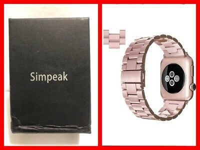 $ CDN15 • Buy SIMPEAK Stainless Steel Band Strap For Apple Watch 42mm Series 1 2 3 ROSE GOLD