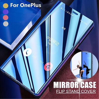 AU6.74 • Buy For OnePlus 8 7 Pro 7T 6T 6 5T Luxury Clear Mirror Leather Flip Stand Case Cover