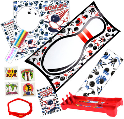 Pre Filled Ten Pin Bowling Party Box - Boys Girls Parties Activity Gift Bags • 2.19£