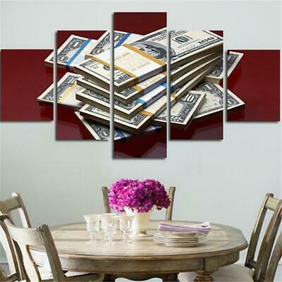 $16.91 • Buy Money Stacks 5 Piece Canvas Art Wall Art Picture Painting Home Decor