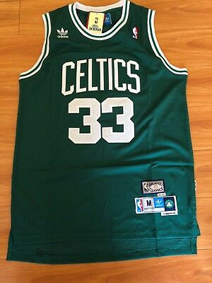 Larry Bird  33 Boston Celtics Green Swingman Hardwood Classics Men s Jersey  NWT • 33.95  43e25cdde