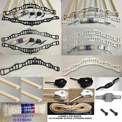 £20.14 • Buy Clothes Airer Dryer Pulley Maid Kit 6 Lath Black/white Victorian Vintage