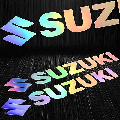 $12.88 • Buy 6-7/8   Laser  Fuel Gas Tank Fender Decal Logo Vinyl Sticker Suzuki Neo Chrome