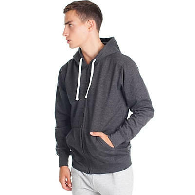 $ CDN21.99 • Buy Cotton Blend Hoodie With Full-length Zip And Kangaroo Pocket Charcoal Mix