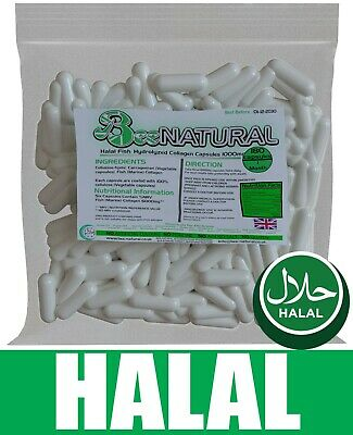 Halal Marine Life Pure Hydrolyzed Collagen 1000MG - 180 Capsules(1 Month Supply) • 9.99£