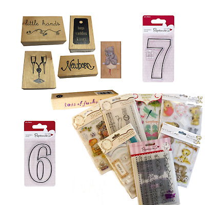 Job Lot Clearance Clear Stamps & Embossing Folder • 1.99£