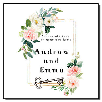 Personalised New Home Card Floral New House • 3.99£