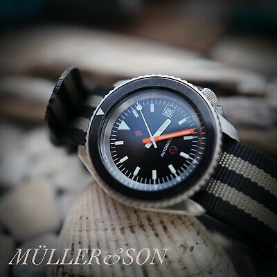 $ CDN778.23 • Buy Müller&Son Watch Mod  3H Bund  SuperMod Made From Seiko SKX007/9 + Rubber Strap