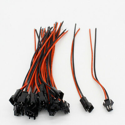AU11.03 • Buy 2 Pins JST SM 10 Pairs Male To Female Quick Cable Connector 2 Way Terminal Block
