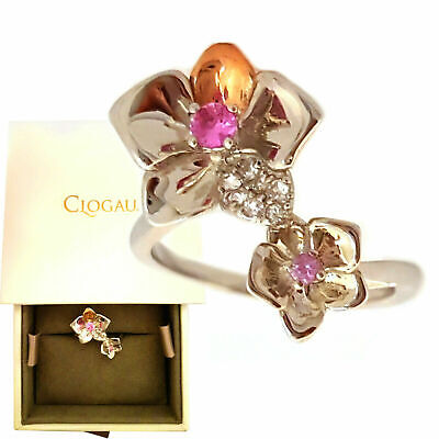 Clogau Ring Size J,M,N,O,P,Q Orchid Sapphire Silver 9ct Welsh Rose Gold £129 Off • 69.95£