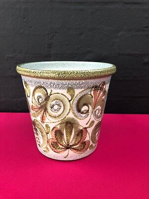 """£29.99 • Buy Denby Hand-Painted Glyn Colledge Signed Plant Pot Planter 7.5"""" High Last 1"""