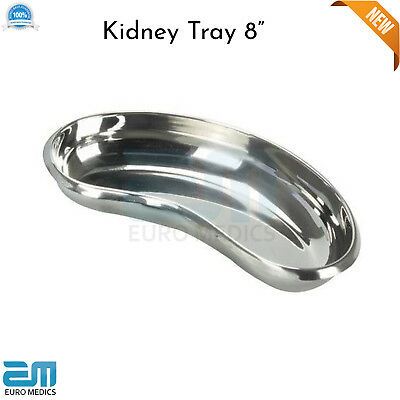 Professional Surgical Kidney Tray 8  Dish Basin Emesis Dentistry Lab Instrument • 6.40£