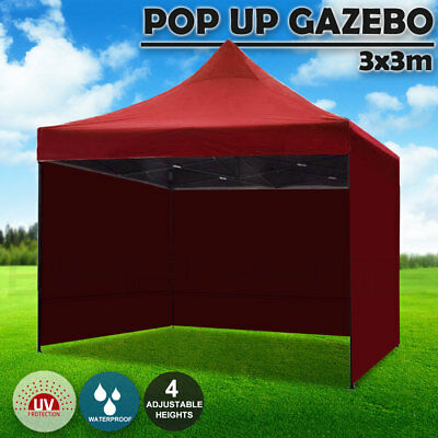 AU129.95 • Buy 3x3m Pop Up Gazebo Outdoor Tent Folding Marquee Party Camping Market Canopy S Re
