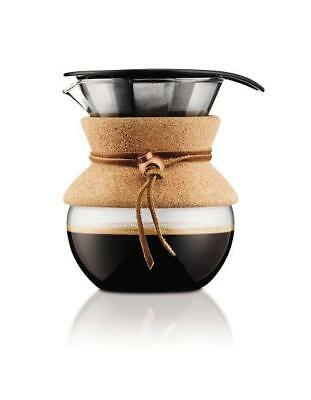 Bodum Pour Over Coffee Maker With Permanent Filter 0.5 L 17oz Reusable Drinkware • 21.99£
