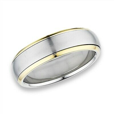 $9.19 • Buy Stainless Steel 2 Tone Silver And Gold IP Spinner Ring -  Free Gift Packaging