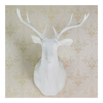 Large Size Plastic Deer Head Wall Hanging Decoration White 172 99