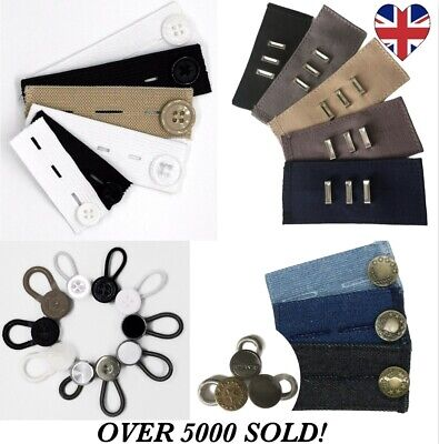 £2.52 • Buy Waist Band Extender Expander Button Trousers Maternity Jeans Elastic Waistband
