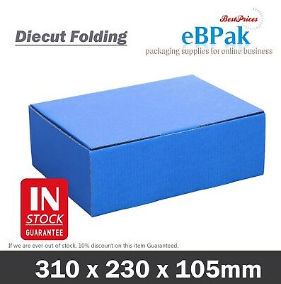 AU28.50 • Buy Mailing Box - Blue Colour 310x220x102mmShipping Cardboard Carton A4 B2 BX2 Size