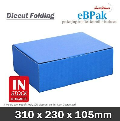 AU29.95 • Buy Mailing Box Blue Colour 310x220x102mm Shipping Cardboard Carton A4 B2 BX2 Size