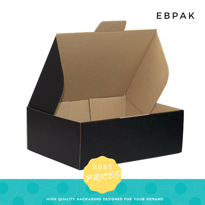 AU29.95 • Buy Mailing Box Black Colour 310x220x102mm Cardboard Carton A4 B2 BX2