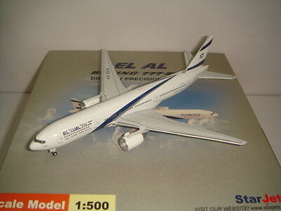 $79.99 • Buy StarJets 500 El Al Israel Airlines B777-200ER  2000s Colors - Galilee  1:500
