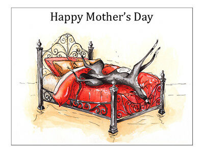 £4.45 • Buy Mothers Day Card Greyhound Whippet Lurcher Italian Gift - CUSTOM TEXT - Gifts