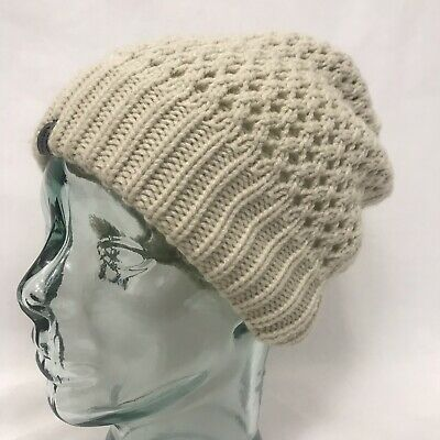 Unisex Ivory  The North Face  Acrylic Knit Slouch Beanie Hat O S • 687174493105