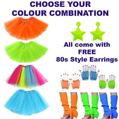 AU29.99 • Buy 80s Tutu Costume Ideas, Hen Party Outfits, 80s Fancy Dress, Leg Warmers,Earrings