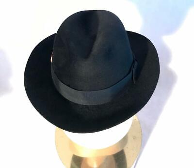 04e5764bbdffb Vintage Imperial Stetson Fedora Hat Nice Nap Red Feather 7 1 4 58 • 45.00