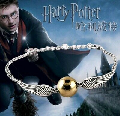 AU4.90 • Buy Harry Potter And The Philosophers Stone Golden Snitch Quidditch Silver Bracelet