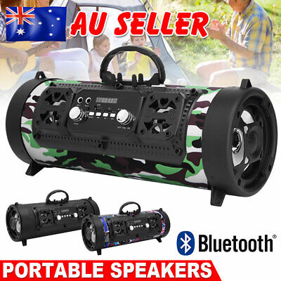 AU35.95 • Buy Portable Wireless Bluetooth Speakers Stereo Bass USB/TF/ Radio Outdoor Subwoofer