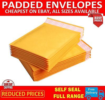£27.89 • Buy Padded Bubble Envelopes Bags Postal Wraped - All Sizes Gold  - Trade Prices