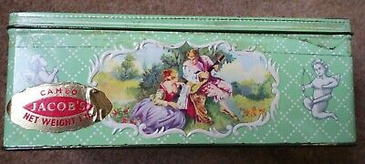 Vintage Jacobs 'Cameo' Biscuit Tin.  Good Used Condition.  Original Labels. • 9.99£