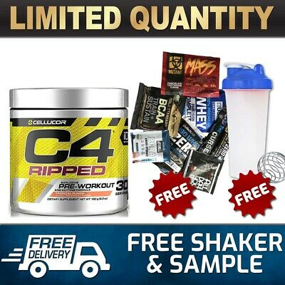 AU46.90 • Buy Cellucor C4 Id  Ripped Pre Workout  Energy Thermogenic Fat Burner 30 Serves