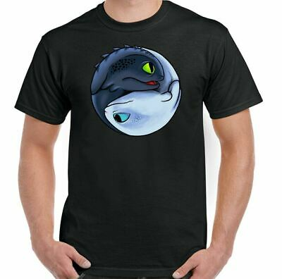 How To Train Your Dragon T-Shirt Toothless Yin And Yang Mens Funny Inspired Top  • 9.49£