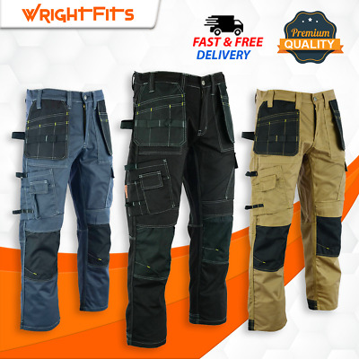 £27.99 • Buy Top Quality Heavy Duty Work Trousers Comfort Cargo Pants Knee Pads Pockets -WWDT